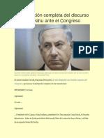 Transcripción completa del discurso de Netanyahu ante el Congreso
