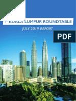 Kuala Lumpur Roundtable Report July 2019