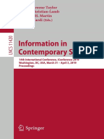 (Lecture Notes in Computer Science 11420) Information in Contemporary Society_14th International Conference
