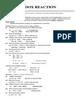 Redox MCQ sheet for jee main