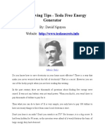 Power Saving Tips - Tesla Free Energy Generator.doc