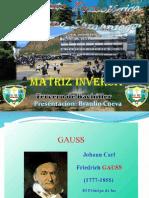 Exposicion de matriz inversa Braulio Cueva
