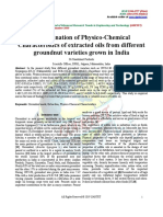 Determination of Physico-Chemical Characteristics of Extracted Oils From Different Groundnut Varieties Grown in India