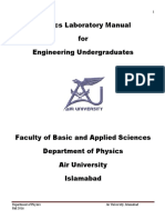 Physics Lab Manual for Engineers