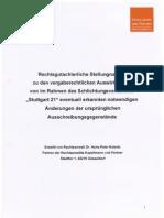 Stuttgart 21 Schlichtung - [7] 2010-11-26 - Kulartz Rechtsgutachterliche Stellungnahme Vergaberechtliche Auswirkungen