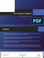 1- Feb 16 - Chapter 1 - The Context of Logistics.pptx