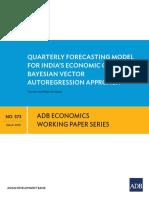 ADB Abhijit Sen Gupta GDP Growth Model