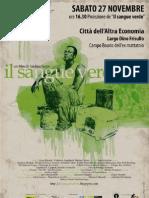 Il Sangue Verde - Roma CAE 27 novembre ore 16.30