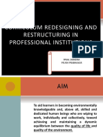 CURRICULUM REDESIGNING AND RESTRUCTURING IN PROFESSIONAL INSTITUTIONS (1)