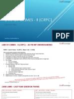 Law of Crimes - II CRPC  - Single Slide