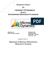 project on microsoft dynamics