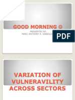 VARIATION OF VULNERABILITY ACROSS SECTORS