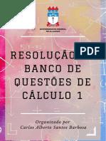 Banco de Questões de Cálculo 1 Ufal (2017)