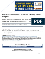 Impact of E-banking on the Operational Efficiency of Banks in Nigeria
