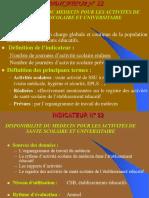 INDICATEUR-CIRC Médecine Scolaire