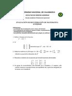 Examen de Aplazado Matematica Superior