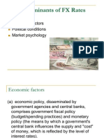 Determinants of FX Rates
