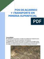 EQUIPOS DE ACARREO Y TRANSPORTE SUPERFICIAL