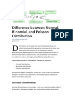Normal, Binomial and Poisson Distributions