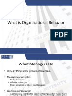 1.What is Organizational Behavior