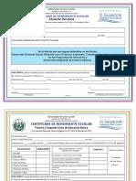 Mined Certificados de Rendimiento Escolar 2014