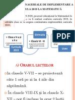 Training la matematica