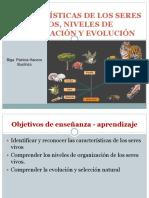 presentación 3 Caracteristicas de los seres vivos, evolucion y seleccion natural
