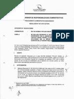 Resolución N° 001-2014-CG-TSRA