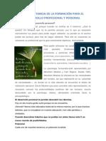 LA IMPORTANCIA DE LA FORMACIÓN PARA EL DESARROLLO PROFESIONAL Y PERSONAL