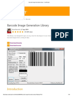 Barcode Image Generation Library