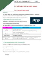 دروس علوم الحياة و الارض بالفرنسية الاولى اعدادي.docx