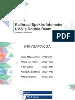 KALIBRASI SPEKTROFOTOMETER UV VIS DOUBLE BEAM 3A
