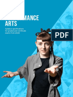 Performance Arts Syllabus Specifications from 2020