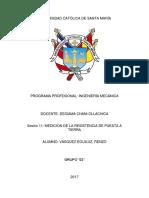 MEDICION DE LA RESISTENCIA DE PUESTA A TIERRA