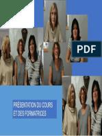 Présentation Du Cours Et Des Formatrices