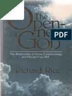 Rice, Richard. The Openness of God (Nashville, TN. Pacific Press, 1980).pdf