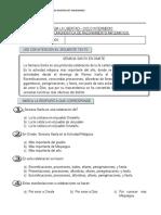 EVALUACIÓN DIAGNÓSTICA DE COMPRENSION LECTORA INTERMEDIO 3