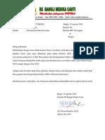 Surat Permohonan Data Pembanding Suveilans HAIS