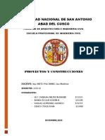 TRABAJO PARCIAL DE PROYECTOS Y CONSTRUCCION