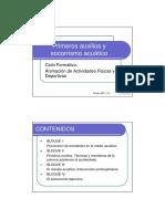 Primeros auxilios y socorrismo acuático. Tema 1-2