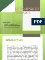 TIPOS DE EQUIPOS DE TRABAJOS