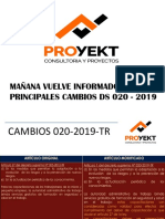CAMBIOS  DS  020 -2019