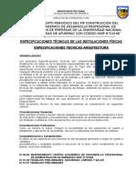 4.  especificaciones tecnicas mantenimiento de las instalaciones fisicas.doc