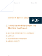 Immune Modifiers From Shiitake