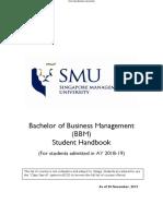BBM Student Handbook_(Intake AY18-19)