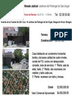 Remate  Judicial  Av de Las Fuentes 230 -10 Casa en Condominio Pedregal de San Angel