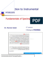 Lecture 1-Fundamentals of Spectrophotometry