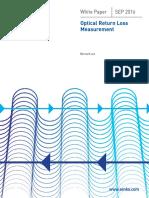 Optical Return Loss Measurement