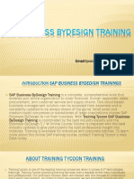 SAP Business ByDesign Training