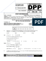 XII Maths DPP (08) - Prev Chaps + Functions_ITF + Limits,Continuity + MOD